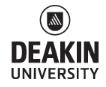 Deakin University – Burwood VIC Logo