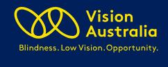 Vision Australia - Belmont VIC  Logo